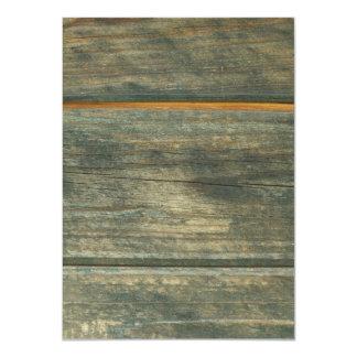 """madera invitación 4.5"""" x 6.25"""""""