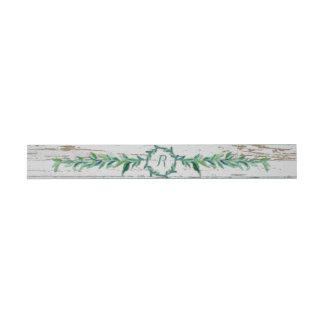 Madera moderna de la rama verde oliva de la hoja cintas para invitaciones