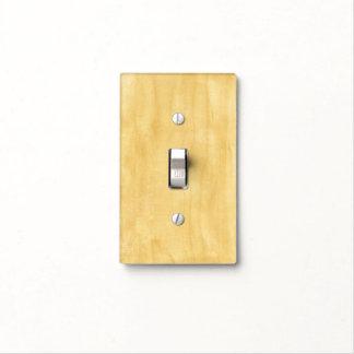 Madera pálida cubiertas para interruptor