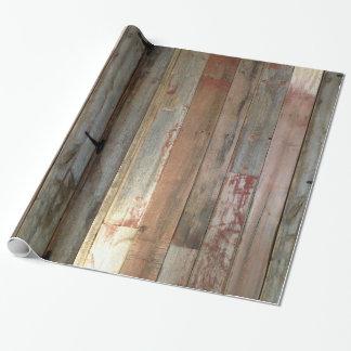 madera primitiva rústica del granero de la granja papel de regalo
