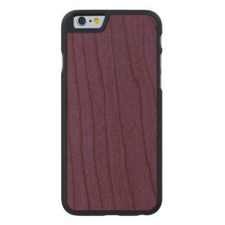 Madera púrpura oscura de la cereza funda de iPhone 6 carved® de cerezo
