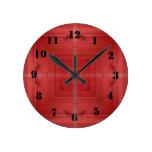 Madera roja abstracta relojes de pared