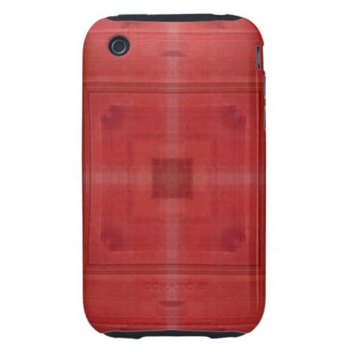 Madera roja abstracta tough iPhone 3 carcasa