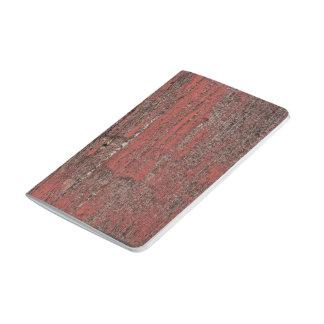 Madera roja cuaderno grapado