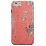 Madera roja del granero del vintage funda de iPhone 6 plus tough