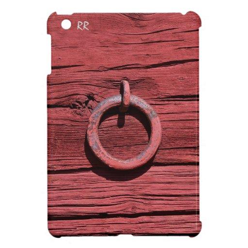 Madera roja rústica con caso del iPad del anillo d iPad Mini Carcasas