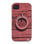 Madera roja rústica con el caso del iPhone 4/4S Case-Mate iPhone 4 Carcasas