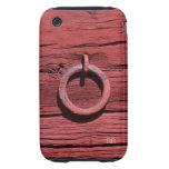 Madera roja rústica con el iPhone 3G/3GS del iPhone 3 Tough Carcasas