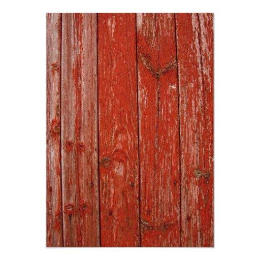 Madera roja vieja anuncio personalizado