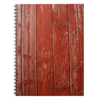 Madera roja vieja libros de apuntes