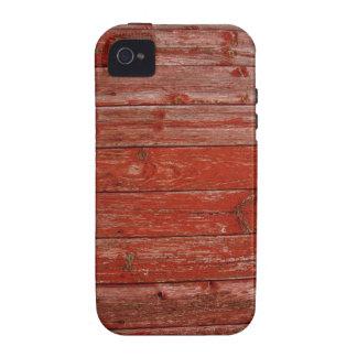 Madera roja vieja vibe iPhone 4 carcasas