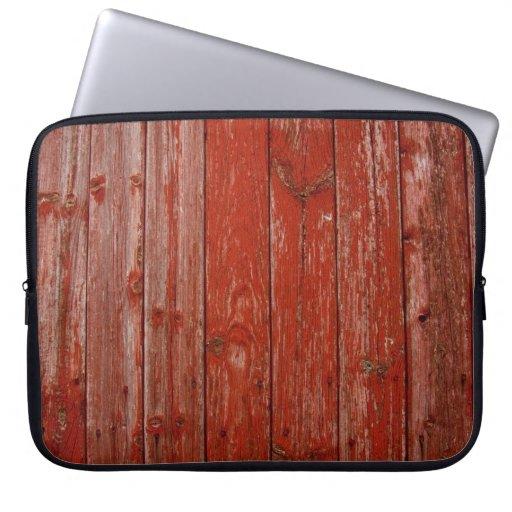 Madera roja vieja funda computadora