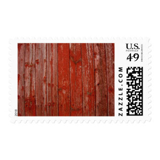 Madera roja vieja franqueo