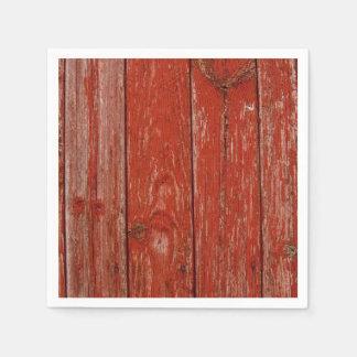 Madera roja vieja servilleta de papel