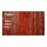 Madera roja vieja tarjeta de visita