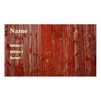 Madera roja vieja tarjetas de visita