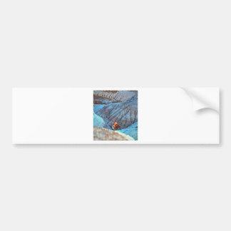 Madera rota en colección del barranco azul pegatina de parachoque