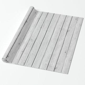 Madera rústica blanca elegante papel de regalo