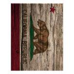 Madera rústica de la bandera de California Plantilla De Membrete