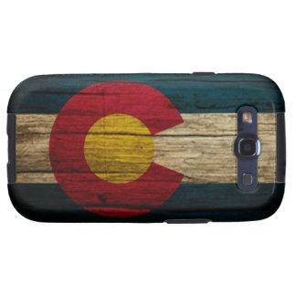 Madera rústica de la bandera de Colorado Galaxy SIII Protectores