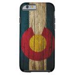 Madera rústica de la bandera de Colorado Funda De iPhone 6 Tough