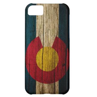 Madera rústica de la bandera de Colorado Funda Para iPhone 5C