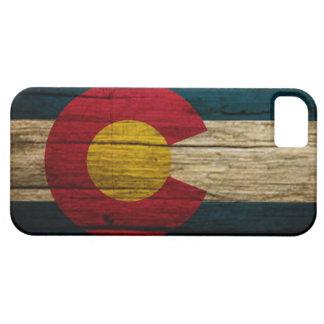 Madera rústica de la bandera de Colorado iPhone 5 Funda