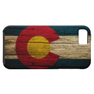Madera rústica de la bandera de Colorado iPhone 5 Fundas