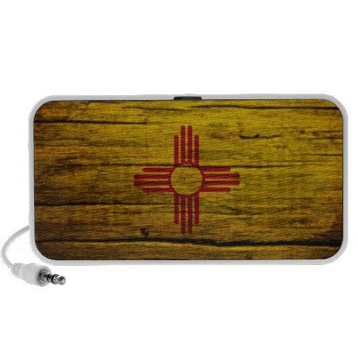 Madera rústica de la bandera de New México Mini Altavoz