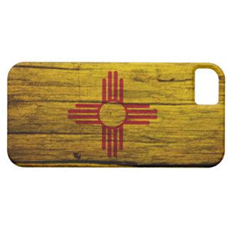 Madera rústica de la bandera de New México iPhone 5 Cárcasa