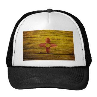 Madera rústica de la bandera de New México Gorros