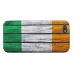 Madera rústica de la bandera irlandesa iPhone 5 carcasa
