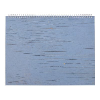 Madera rústica de la playa (azul) calendario