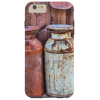 Madera rústica del granero del viejo vintage y funda resistente iPhone 6 plus