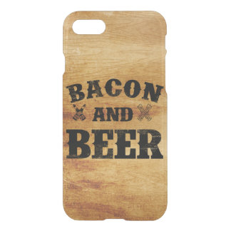 Madera rústica del tocino y de la cerveza funda para iPhone 7