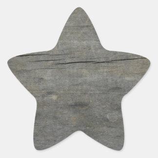 Madera rústica pegatina en forma de estrella