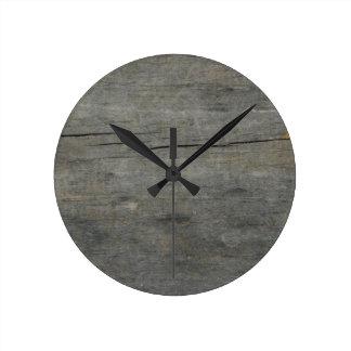 Madera rústica reloj redondo mediano