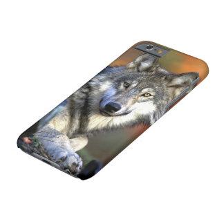 Madera salvaje o lobo gris funda de iPhone 6 barely there