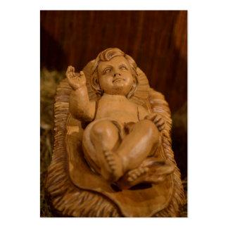 Madera tallada bebé de Jesús Tarjetas De Negocios