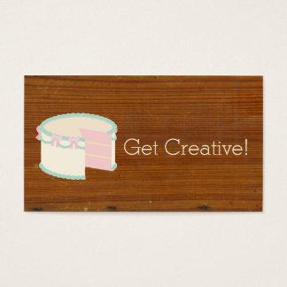 Madera texturizada inspirada antigüedad linda de tarjeta de negocios