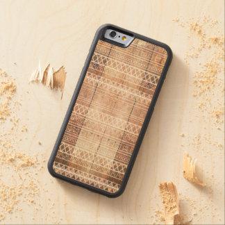 Madera tribal azteca del vintage funda de iPhone 6 bumper arce