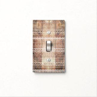 Madera tribal azteca del vintage placa para interruptor