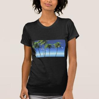madera TROPICAL b de la hoja del cielo del mar de T Shirts