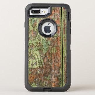 Madera verde gastada y resistida del granero funda OtterBox defender para iPhone 7 plus