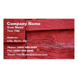 Madera vieja con la pintura roja fresca tarjetas de visita