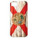 Madera vieja de la bandera de la Florida iPhone 5 Coberturas