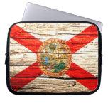 Madera vieja de la bandera de la Florida Fundas Computadoras