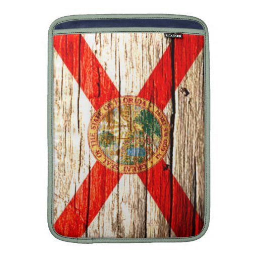 Madera vieja de la bandera de la Florida Funda Macbook Air