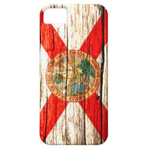 Madera vieja de la bandera de la Florida iPhone 5 Fundas