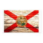 Madera vieja de la bandera de la Florida Tarjetas Personales